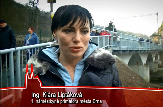 Otevření nové lávky přes řeku Svitavu v Brně Obřanech