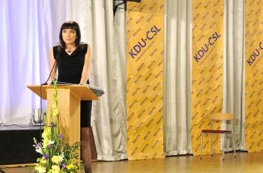 Projev místopředsedkyně Kláry Liptákové  na Ideové konferenci KDU-ČSL v Paláci Charitas