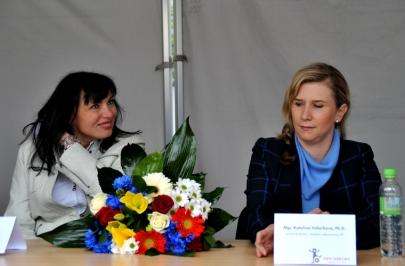 Na Dni sportovišť 12.09 2015 s ministryní školství Kateřinou Valachovou