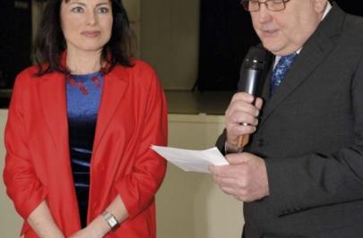 Paní starostka ing. Klára Liptáková a pan místostarosta ing. Stanislav Dvořák při slavnostním otevření Společenského sálu